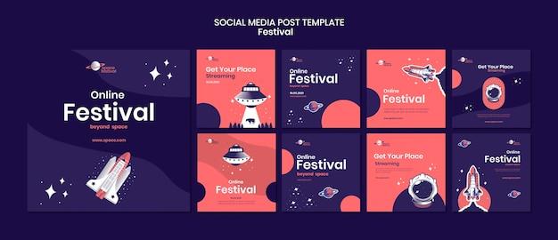 Post op sociale media van het festival
