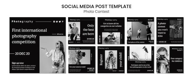 Post op sociale media voor fotografiewedstrijd
