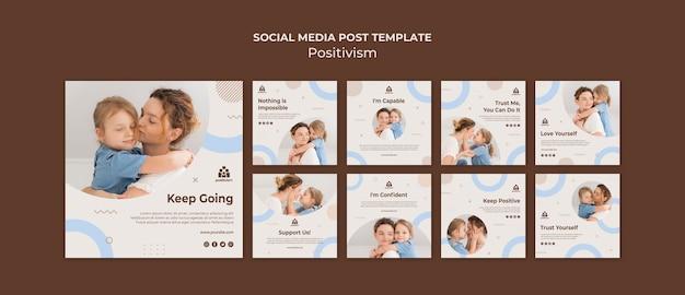 Post positivo sui social media
