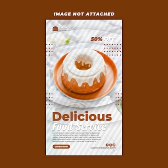 Post-sjabloon voor sociale media voor eten premium psd