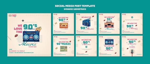 Post sui social media con geometrie dinamiche