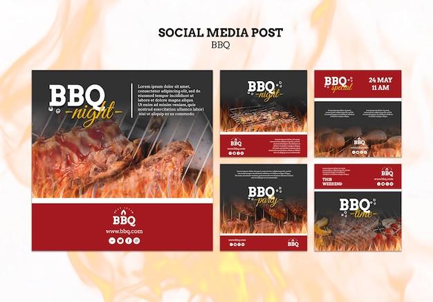 Post sui social media di bbq