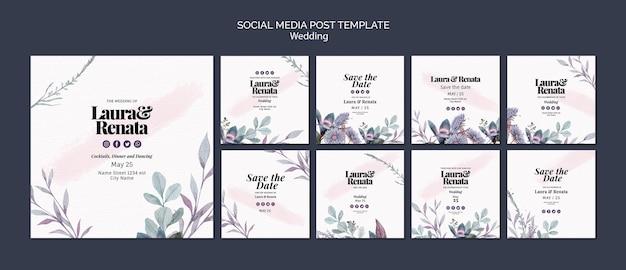 Post sui social media per eventi di matrimonio
