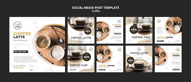 Post sui social media sul caffè