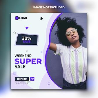 Post vendita super social media o modello di banner