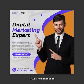 Postemplate de redes sociales de marketing digital psd premium