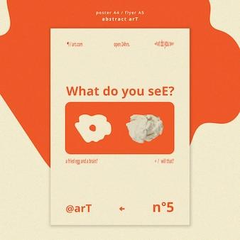 Poster abstracte kunst sjabloon