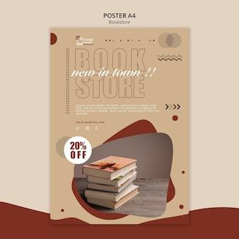 Poster boekwinkel advertentiesjabloon
