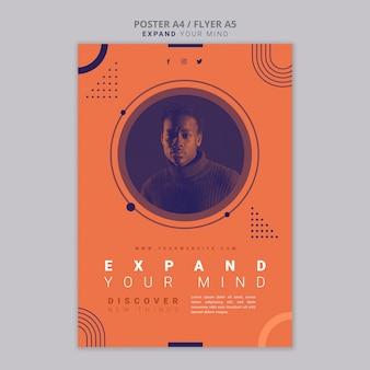 Poster breidt je geestesjabloon uit