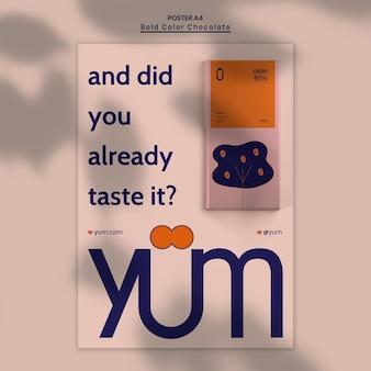 Poster chocolade winkel advertentiesjabloon