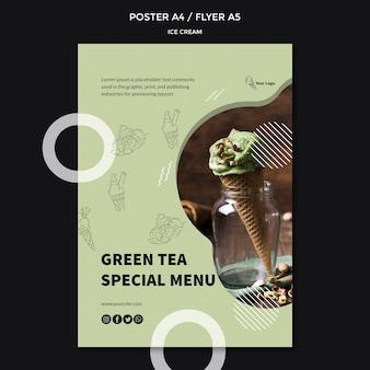 Poster con design di gelato