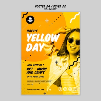 Poster con design giallo