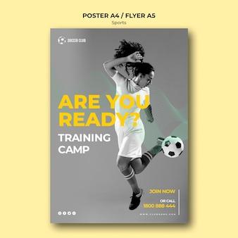 Poster del campo di addestramento del club di calcio