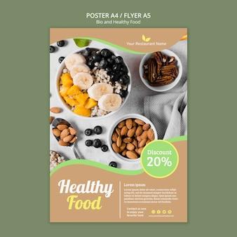 Poster di alimenti biologici e sani