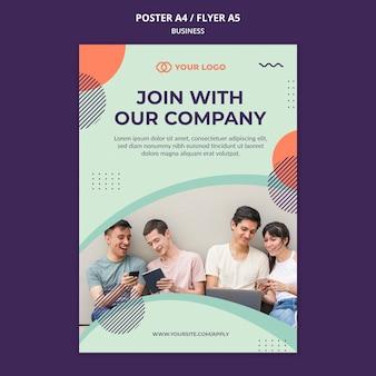 Poster di concetto di officina aziendale