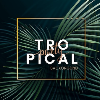 Poster di festa tropicale