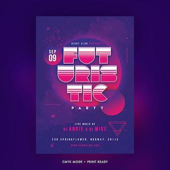 Poster di partito futuristico