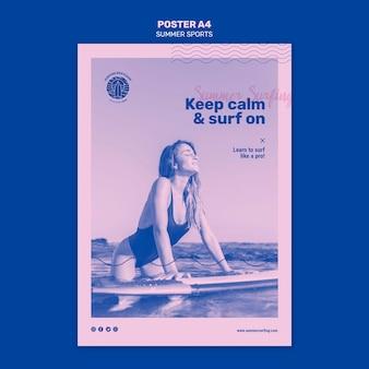 Poster di sport estivi