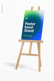 Poster easel stand mockup, perspectief