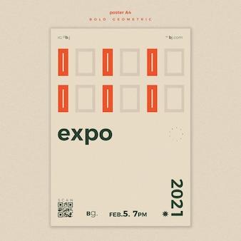 Poster expositie evenement advertentiesjabloon