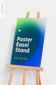 Poster ezel stand mockup, close up