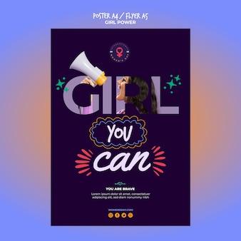 Poster / flyer-sjabloon voor dag van de vrouw