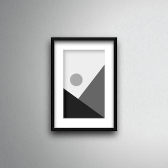 Poster frame mockup aan de muur