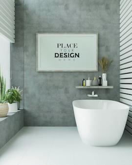 Poster frame mockup op badkamer interieur