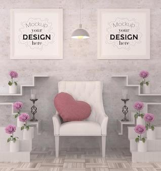 Poster frames in de woonkamer