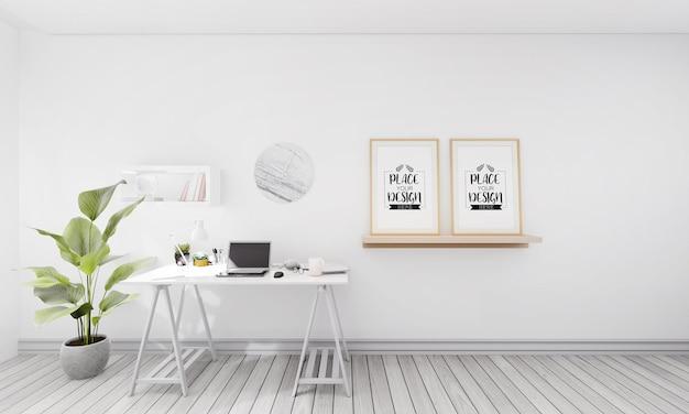 Poster frames in kantoor mockup