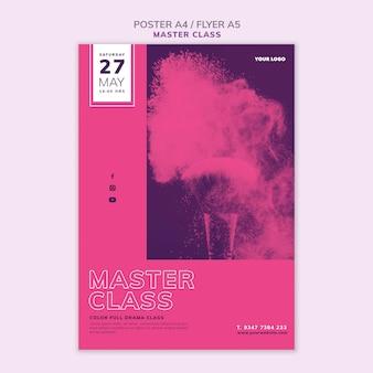 Póster para masterclass
