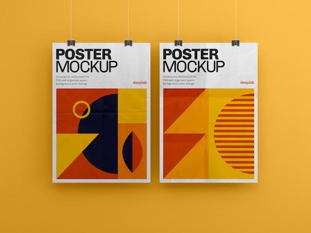 Poster met bewerkbaar premium achtergrondmodel