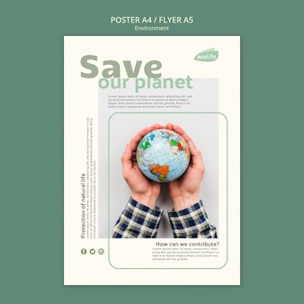 Poster met milieuthema