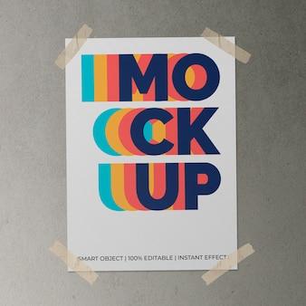 Poster met plakbandmodel