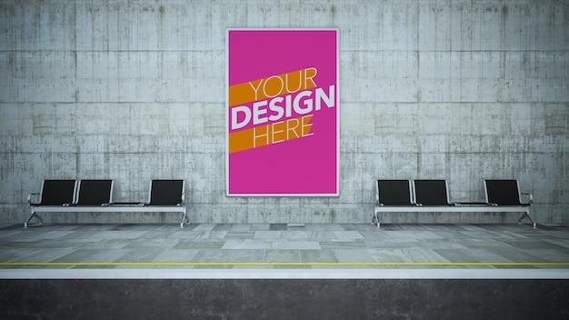 Poster mock up op metrostation