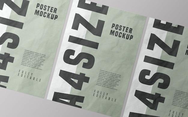 Poster mockup design psd