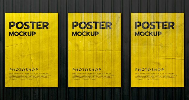 Poster mockup realistisch afdrukken