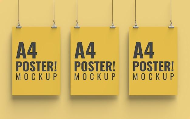 Poster mockup vooraanzicht a4-formaat