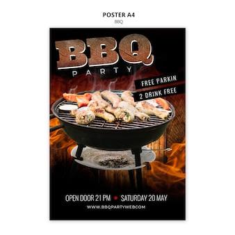 Poster modello barbecue a4
