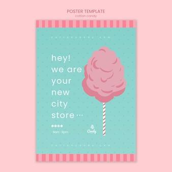 Poster modello di negozio di caramelle