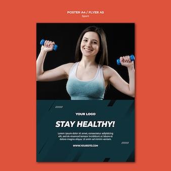 Poster modello sport