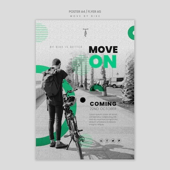 Póster move by bike