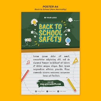 Poster per il ritorno alla stagione scolastica