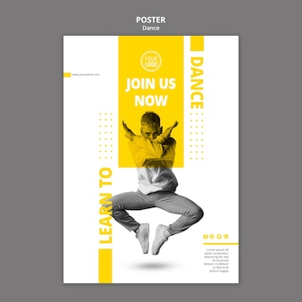 Poster per lezioni di danza