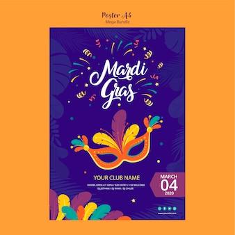 Poster sjabloon concept voor carnaval