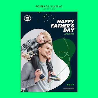 Poster sjabloon concept voor vaders dag evenement