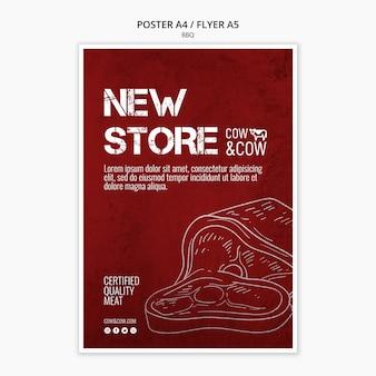 Poster sjabloon met bbq-ontwerp