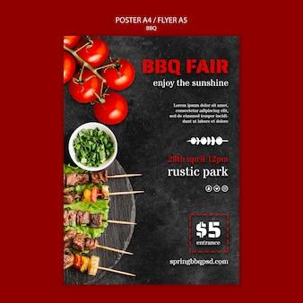 Poster sjabloon met bbq-thema