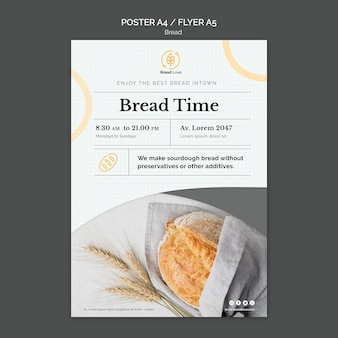 Poster sjabloon met brood