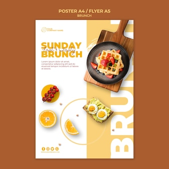 Poster sjabloon met brunch thema